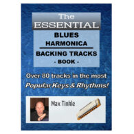 Max Tinkle's Blues Harmonica Backing Track Book <span class=